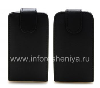 Leather case cover with vertical opening for the BlackBerry 9320/9220 Curve