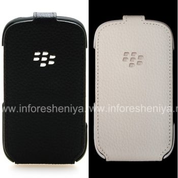 The original leather case with vertical opening cover Leather Flip Shell for BlackBerry 9320/9220 Curve