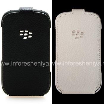 উল্লম্ব উদ্বোধনী কভার চামড়া সঙ্গে মূল চামড়া কেস BlackBerry 9320 / 9220 কার্ভ জন্য শেল ফ্লিপ