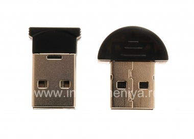 Buy Bluetooth-adapter to connect the BlackBerry to the computer