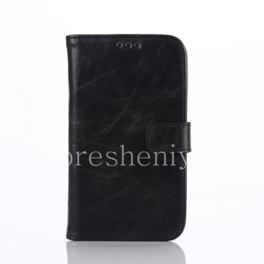 Buy Horizontal Leather Case with opening function supports for BlackBerry Classic
