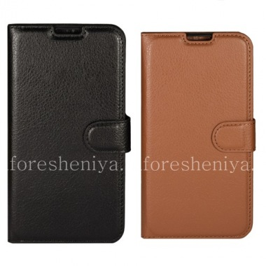 Buy Leather Case horizontal opening with stand function for BlackBerry DTEK60