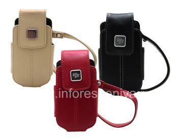 الأصلي حقيبة جلد حقيبة مع علامة معدنية حمل جلد لبلاك بيري 8220 Pearl فليب