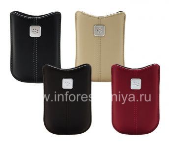 The original leather case with a metal tag Leather Pocket for BlackBerry 8220 Pearl Flip