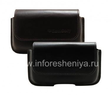 Buy الأصلي حالة حقيبة جلدية مع كليب الأفقي الحافظة لبلاك بيري 9000 Bold