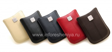Buy The original leather case, a pocket with a metal tag Leather Pocket for BlackBerry