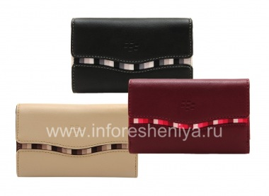 Buy Original Leather Case Bag with fabric insert Leather Folio for BlackBerry