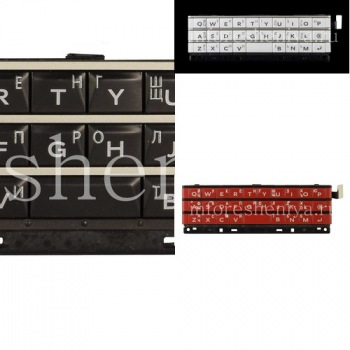Russian keypad (engraving) in assembly with board and trackpad sensor for BlackBerry Passport