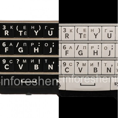 Buy Russian Keyboard for BlackBerry Q10 (engraving)