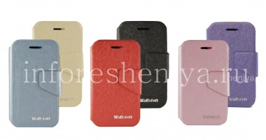 Buy Signature Leather Case horizontal opening Wallston Colorful Smart Case for BlackBerry Q5