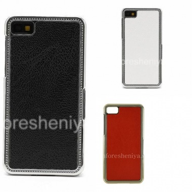 Buy Plastic bag-cover with leather inserts for the BlackBerry Z10