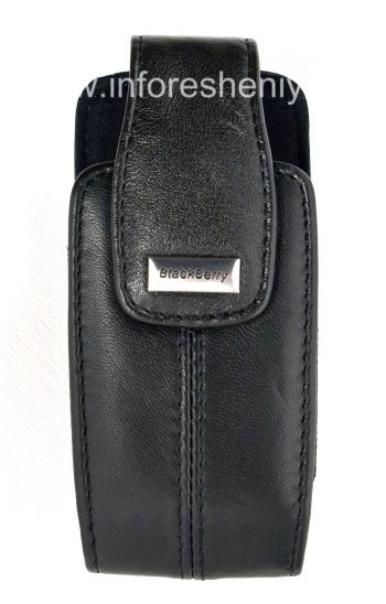 The original leather case with a clip and a metal tag Lambskin Leather Swivel Holster for BlackBerry 8100/8110/8120 Pearl