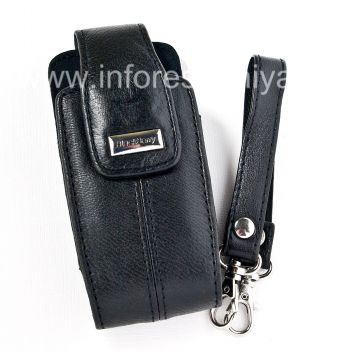 The original leather case with strap and a metal tag Leather Tote for BlackBerry 8100/8110/8120 Pearl