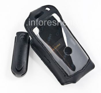 Signature Leather Case with Clip Cellet Elite Leather Case for the BlackBerry 8100 Pearl