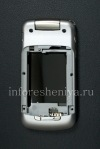 Photo 2 — External and internal LCD screens in the assembly with the middle part of housing for BlackBerry 8220/8230 Pearl Flip, Silver