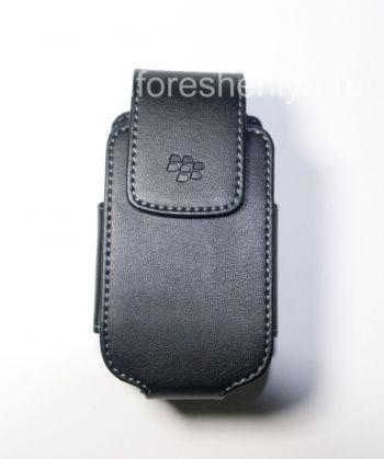 সঙ্গে BlackBerry 8220 Pearl ফ্লিপ জন্য সুইভেল বেল্ট ক্লিপ ক্লিপ কৃত্রিম চামড়া খাপ সঙ্গে মূল চামড়া কেস
