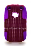 Photo 1 — ब्लैकबेरी कर्व 9320/9220 के लिए बीहड़ छिद्रित कवर, बकाइन / फ्यूशिया