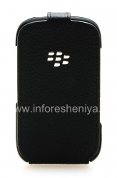 The original leather case with vertical opening cover Leather Flip Shell for BlackBerry 9320/9220 Curve, Black