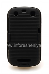 Plastic Case + Holster for the BlackBerry 9360/9370 Curve, The black