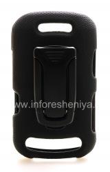 Corporate Case + belt clip Body Glove Flex Snap-On Case for BlackBerry 9360/9370 Curve, The black