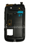 The middle part of the original case for the BlackBerry 9790 Bold, The black
