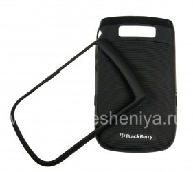 """Plastic case with rubberized insert """"Torch"""" for BlackBerry 9800/9810 Torch, Black / Black"""