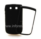 坚固的穿孔盖BlackBerry 9800 / 9810 Torch, 黑/黑