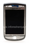 The original LCD screen assembly with a slider for BlackBerry 9800 Torch, Charcoal