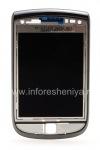 ブラックベリー9800 Torchためのスライダーで、元の液晶画面アセンブリ, ダークメタリック(チャコール)、タイプ001/111