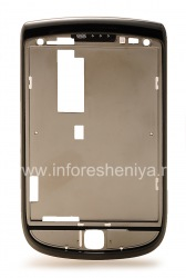Slider with rim for BlackBerry 9800 / 9810 Torch, Charcoal