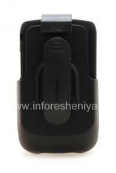 ब्लैकबेरी 9800/9810 Torch के लिए कॉर्पोरेट प्लास्टिक के मामले + पिस्तौलदान Seidio Innocase भूतल कॉम्बो, काला (काला)