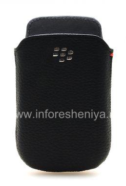 Buy Original Leather Case-pocket with metal logo Leather Pocket for BlackBerry 9800/9810 Torch