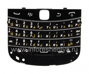 Original keyboard for BlackBerry 9900 / 9930 Bold Touch (other languages), Black, arabic