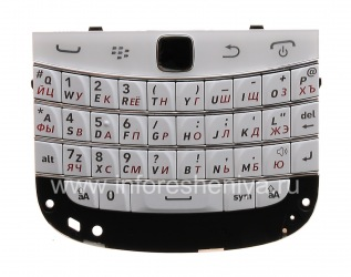 Russian keyboard assembly with the board and trackpad BlackBerry 9900/9930 Bold Touch (copy), White