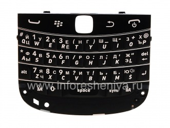 Russian keyboard BlackBerry 9900/9930 Bold Touch (engraving), The black
