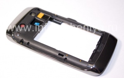 The middle part of the original body with all the elements for BlackBerry 9850/9860 Torch, The black