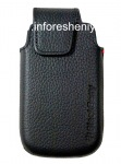 Original Leather Case with Clip for Leather Swivel Holster BlackBerry 9850/9860 Torch, The black