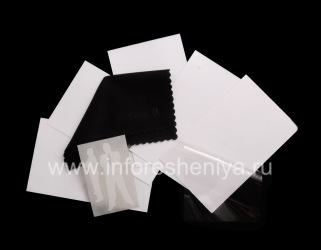 Branded screen protector BodyGuardz Classic ScreenGuardz (5 pieces) for BlackBerry 9850/9860 Torch, Transparent