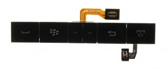 Teclado adicional original con el montaje trackpad para BlackBerry P'9981 Porsche Design, Negro