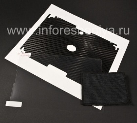 "Corporate set of screen protectors and body BodyGuardz Armor for the BlackBerry PlayBook, Black texture ""Carbon Fiber"""