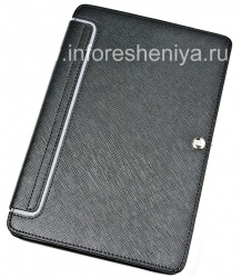 Signature Leather Case Folder with Stand Case-Mate Venture Case for BlackBerry PlayBook, Black