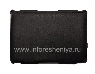 Leather Case Folder with Stand Sandwich Case for BlackBerry PlayBook, Black
