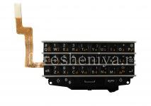 Asli perakitan Keyboard dengan papan untuk BlackBerry Q10 (bahasa lain), Hitam, Arab