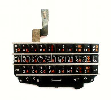 Черная русская клавиатура в сборке с платой для BlackBerry Q10 (Authentic)