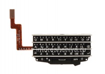 Russian keyboard assembly to the board for the BlackBerry Q10 (engraving), The black
