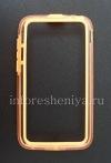 Photo 1 — Silicone Case-bumper seals for BlackBerry Q5 (translucent), Orange