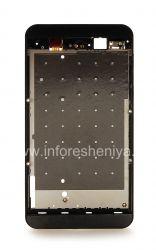 The original bezel assembly for the BlackBerry Z10, Black, T1