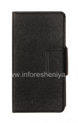 Horizontal Leather Case with opening function supports for BlackBerry Z10, The black