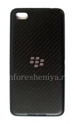Original Back Cover for BlackBerry Z30, Black Carbon