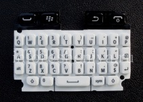 The original English Keyboard for BlackBerry 9720, White, QWERTY